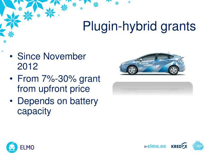 Plugin-hybrid grants