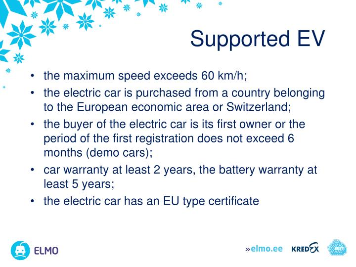 Supported EV