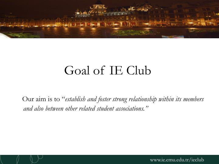 Goal of ie club
