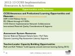 2012 13 ccss implementation resources activities