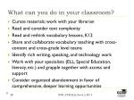 what can you do in your classroom