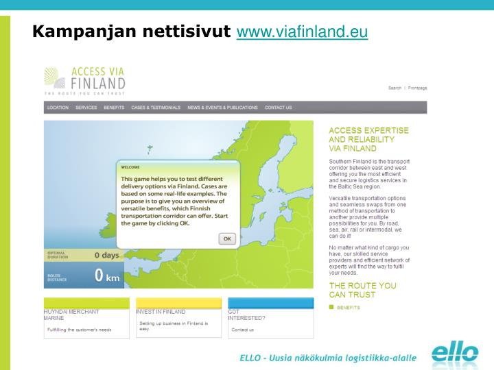 Kampanjan nettisivut
