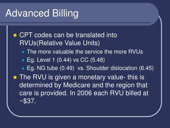 Advanced Billing