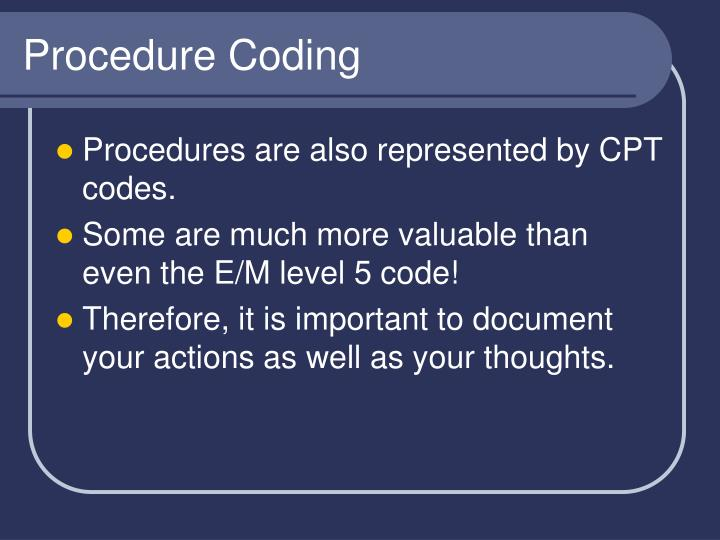Procedure Coding
