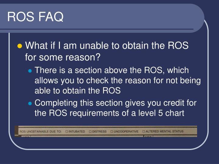 ROS FAQ