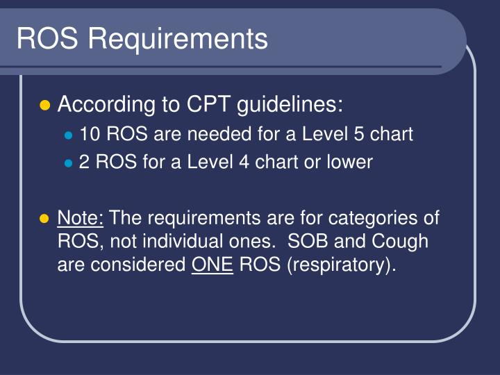 ROS Requirements