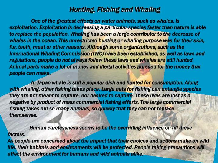 Hunting, Fishing and Whaling
