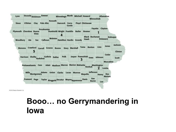 Booo… no Gerrymandering in Iowa