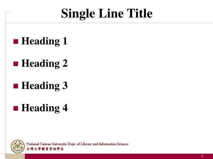 Single Line Title