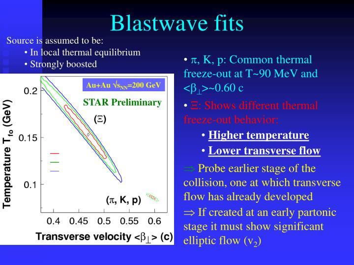 Blastwave fits