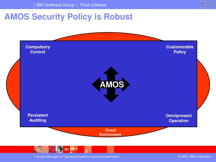 AMOS Security Policy is Robust