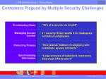 customers plagued by multiple security challenges