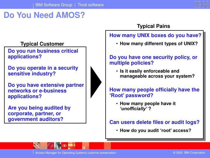 Do You Need AMOS?