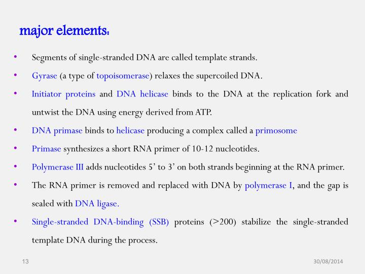 major elements: