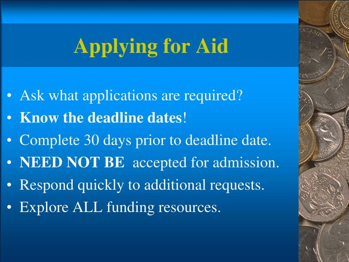 Applying for Aid