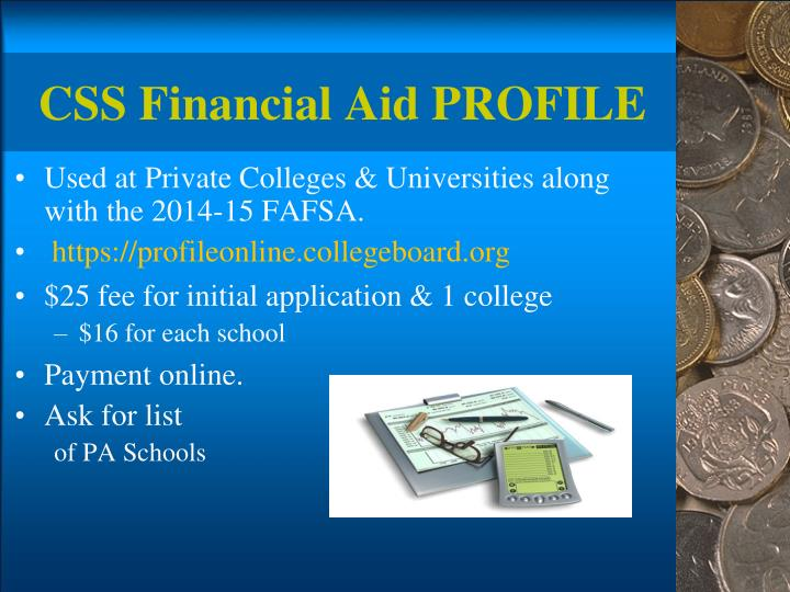 CSS Financial Aid PROFILE