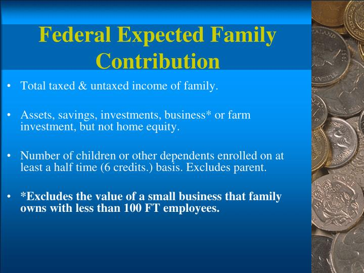 Federal Expected Family Contribution
