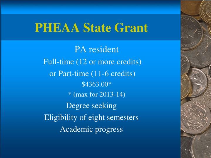 PHEAA State Grant