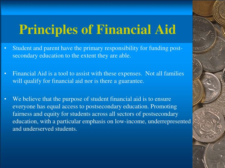 Principles of financial aid