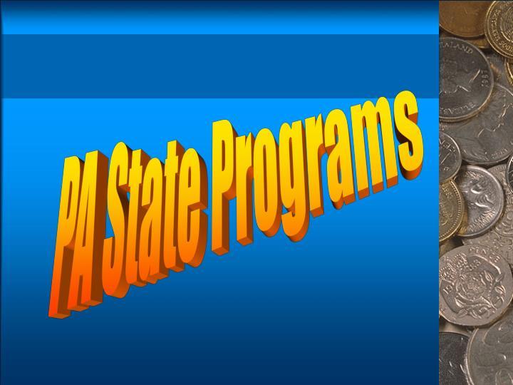 PA State Programs
