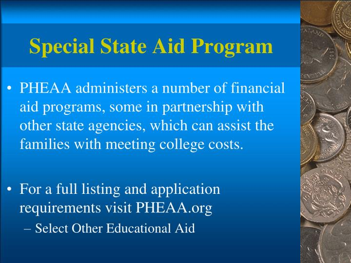 Special State Aid Program