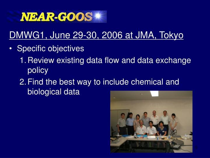 DMWG1, June 29-30, 2006 at JMA, Tokyo