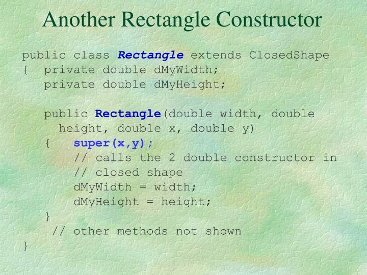 Another Rectangle Constructor