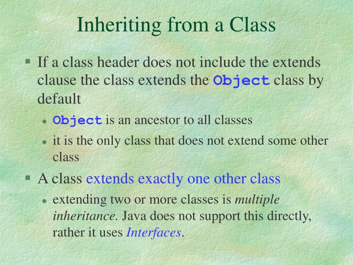 Inheriting from a Class
