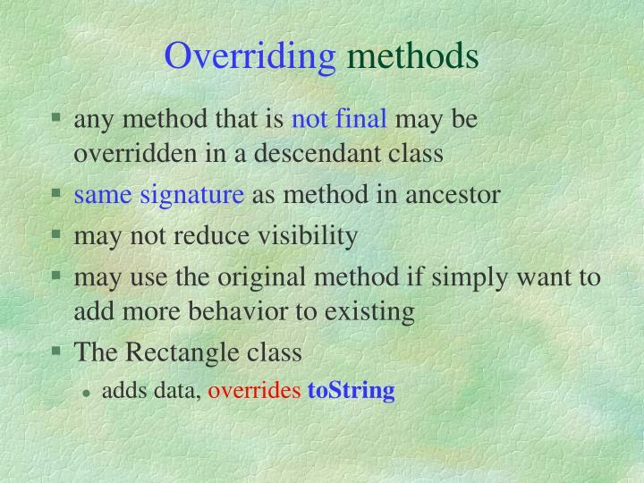 Overriding
