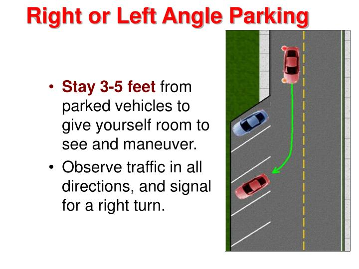Right or Left Angle Parking