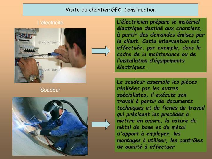 Visite du chantier GFC  Construction