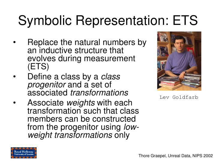 Symbolic Representation: ETS