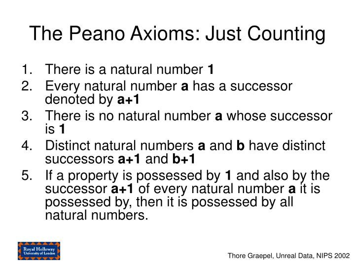 The Peano Axioms: Just Counting