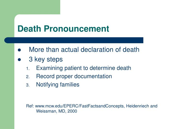 Death Pronouncement