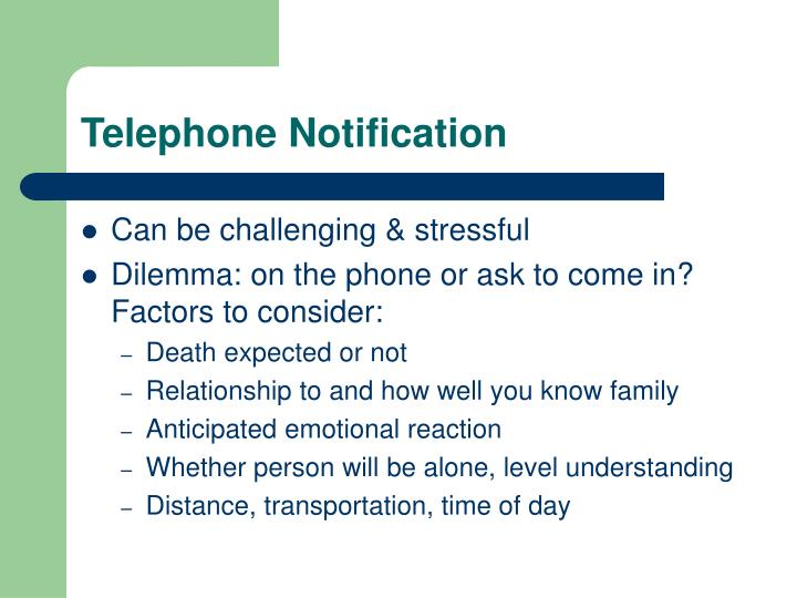 Telephone Notification