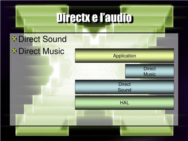 Directx e l'audio