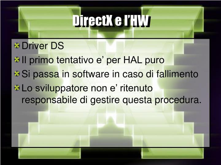 DirectX e l'HW