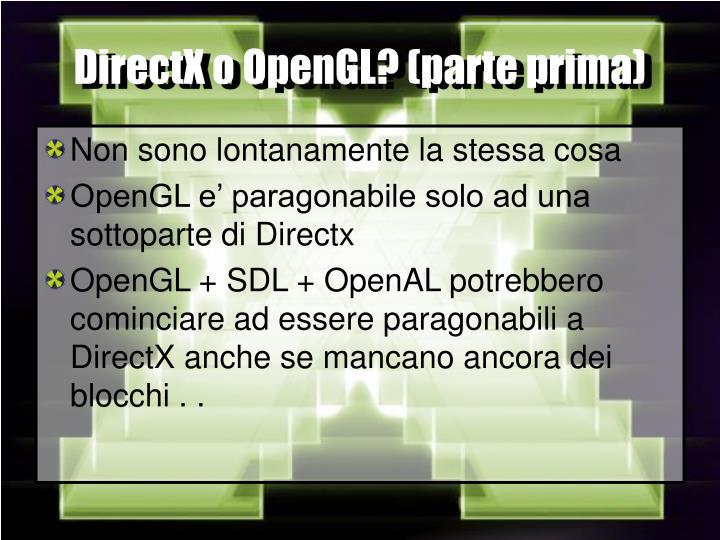 DirectX o OpenGL? (parte prima)