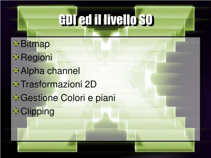 GDI ed il livello SO