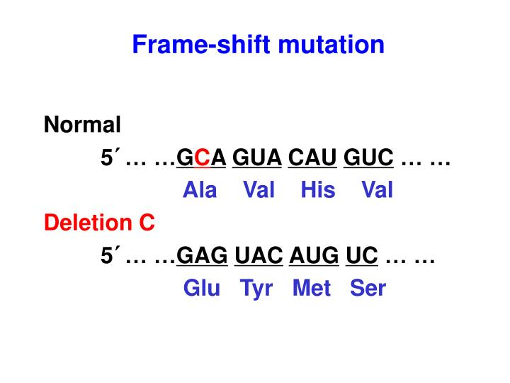 Frame-shift mutation