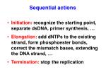 sequential actions