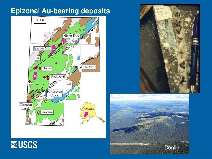 Epizonal Au-bearing deposits
