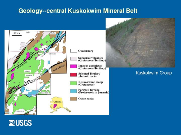 Geology--central Kuskokwim Mineral Belt