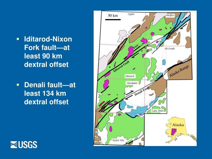 Iditarod-Nixon Fork fault—at least 90 km dextral offset