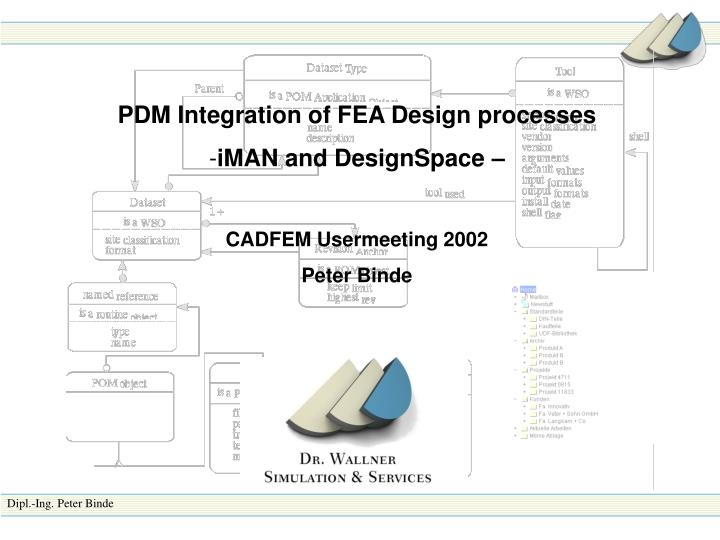 PDM Integration of FEA Design processes