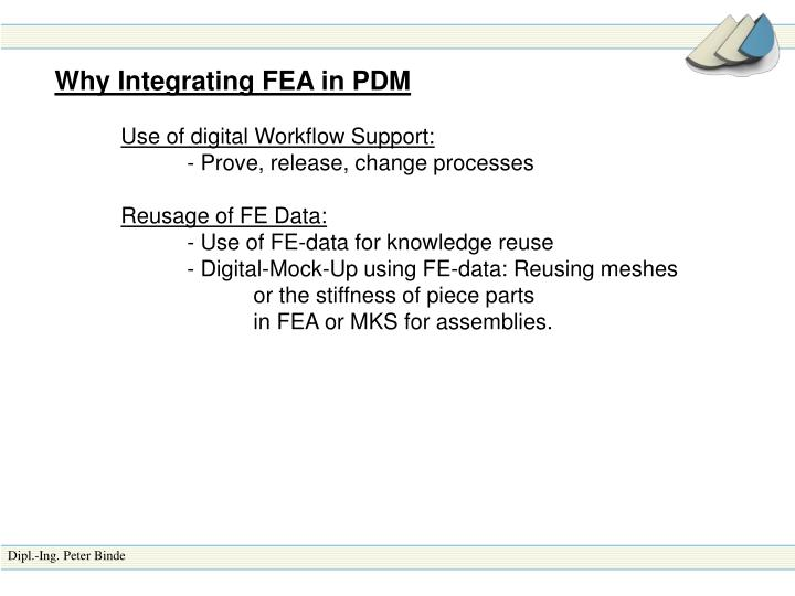 Why Integrating FEA in PDM