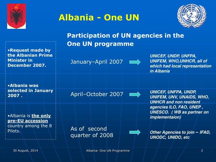 Albania - One UN