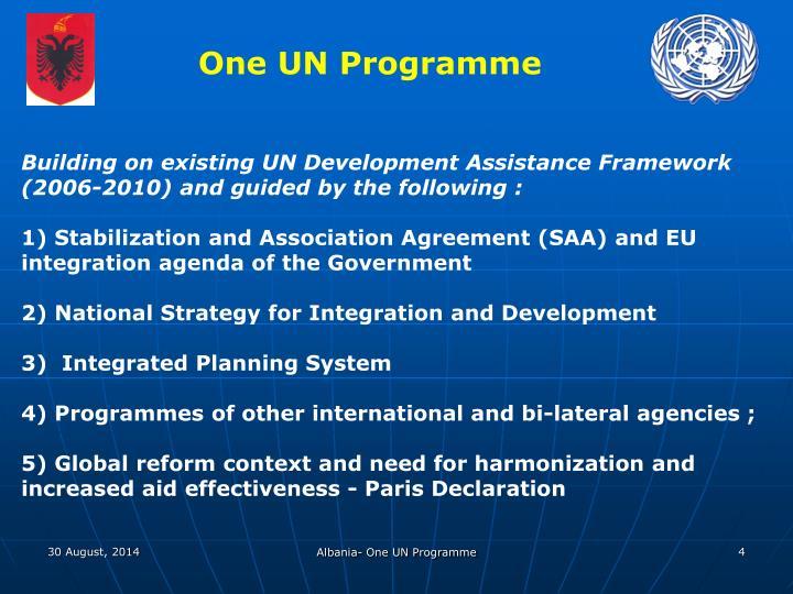 One UN Programme