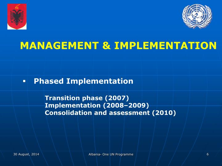 MANAGEMENT & IMPLEMENTATION