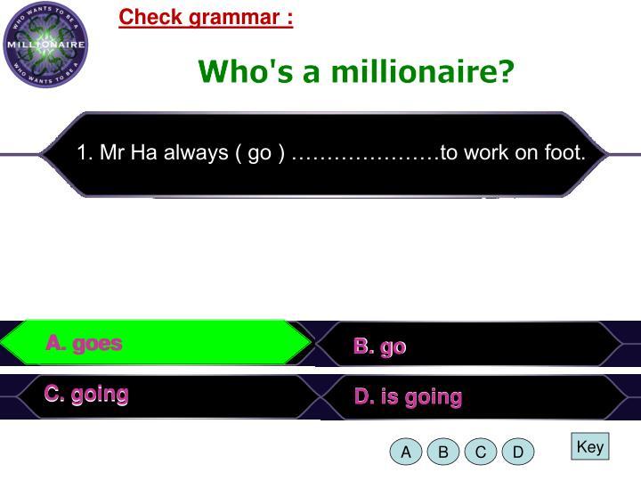 Check grammar :